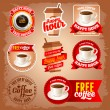 Free coffee labels — Stock Vector #62671527
