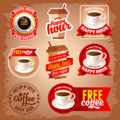 Free coffee labels — Stock Vector