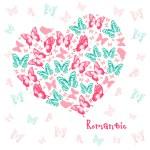 Heart of butterflies — Stock Vector #64456067