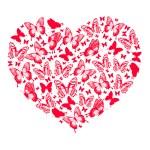 Heart of butterflies — Stock Vector #64456005