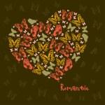 Heart of butterflies — Stock Vector #64456065