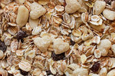 Muesli - healthy food, full frame background close up — Stock Photo