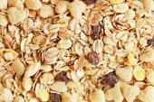Muesli - healthy food background — Stock Photo