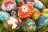 Painted Easter eggs close-up — Stock Photo