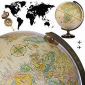 Globe - World Map - Cutout — Stock Photo