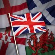 Flags of the United Kingdom of Great Britain — Stock Photo #54030235