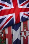 Flags of the United Kingdom of Great Britain — Stock Photo