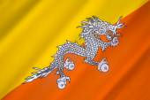 Flag of The Kingdom of Bhutan — Стоковое фото