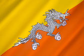 Flag of The Kingdom of Bhutan — Stock Photo