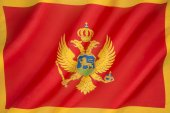 Flag of Montenegro — Stock Photo