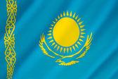 Flag of Kazakhstan - Kazakh Flag — Stock Photo