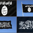 Flag of Al-Qaeda - ISIS - ISIL - Islamic State Flag — Stock Photo #59207559