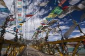 Prayer Flags - Tibet - China — ストック写真