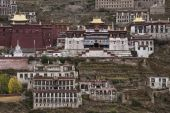 Ganden Monastery in Tibet - China — Stockfoto