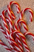 Candy Cane or Peppermint Stick — Stock Photo
