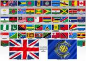 Flags of the Commonwealth of Nations — Stock Photo