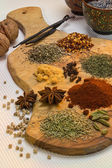 Spices used in cooking — Stock Photo