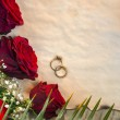 Red Roses - Wedding Day — Stock Photo #65040063