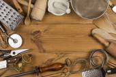 Kuchyňské potřeby - prostor pro Text — Stock fotografie