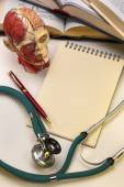 Medical School - Notepad - Space for Text — Stock Photo