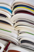 Education - Stack of well used college books — Stock Photo