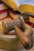 Auctioneer or Judges Gavel - Isolated — Stock Photo