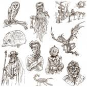 Halloween, Monsters, Magic - An hand drawn collection — Stock Photo
