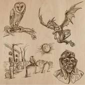Halloween, Monsters, Magic - Vector collection — Stock Vector