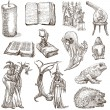Halloween, Monsters, Magic - An hand drawn collection — Stock Photo #53859641