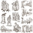 Halloween, Cemeteries - An hand drawn vector pack — Stock Photo #54152931