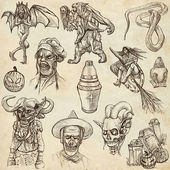 Halloween - An hand drawn collection — Stock Photo