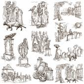 Halloween, Cemeteries - An hand drawn vector pack — Stock Photo