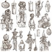 Halloween, Jack o Lantern - An hand drawn vector pack — Stock Photo