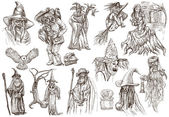 Halloween, Wizard and Witches - An hand drawn vector pack — Stock Photo