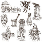 Halloween - An hand drawn vector pack — Stock Photo