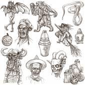 Halloween - An hand drawn vector pack — Stock Photo