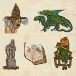 Halloween avatars - an hand drawn pack — Stock Photo #54510739