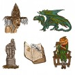 Halloween avatars - an hand drawn pack — Stock Photo #54510745