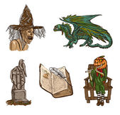 Halloween avatars - an hand drawn pack — Stock Photo
