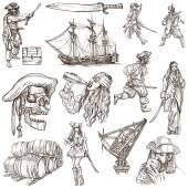 Pirates - an hand drawn collection — Stock Photo