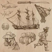 Pirates - an hand drawn vector pack — Stock Vector