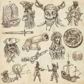 Pirates (no.2) - An hand drawn collection — Stock Photo