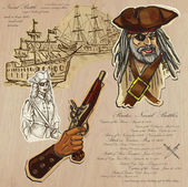 Pirates - Naval Battles — Stock Vector
