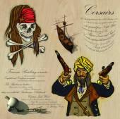 Pirates - Corsairs — Stock Vector