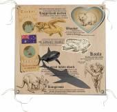 Australia - Pictures of Life, Animals — Stock Vector
