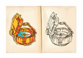 Children's coloring book - Compass — Stock Vector