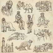 Afghanistan: Travel around the World. An hand drawn illustration — Stock Photo