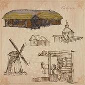 Belarus. Hand drawn vector pack no.3 — Stock Vector