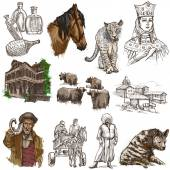 Georgia (travel collection) - full sized hand drawn illustration — Stock Photo