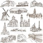 Architecture, Famous places - Full sized illustrations — Zdjęcie stockowe